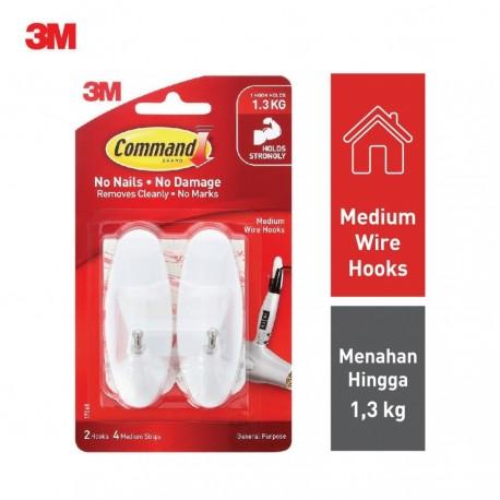 Command Medium Wire Hook 36 Packs/Ctn