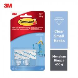 3M Command Clear Small Hooks Clear Strips 17092CLR - Jual Gantungan Baju Tanpa Paku dg Harga Murah