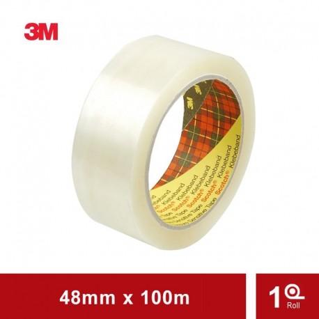 3M Isolasi Lakban Bening Premium Scotch Packaging Tape 311- 48mm x100M