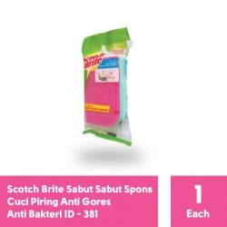 3M Scotch Brite ID-381 - Sabut Spons Cuci Piring Medium Anti Bakteri - di Jual dg Harga Murah
