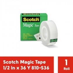 """Magic Scotch Tape 3M 810 (Isolasi) 1/2"""" x 36Y - Isolasi Bening Ukuran Kecil di Jual dg Harga Murah (eceran)"""