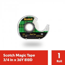"3M Magic Scotch Tape 810D w Clear Display (Isolasi) 3/4"" x 36Y - Jual dg Harga Murah Isolasi Ukuran Kecil (eceran)"