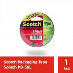 3M PB-50L Brown Packaging Tape (Lakban Isolasi) 48mm x 50 m, tebal: 0.05 mm (eceran)