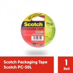 3M PC-50L Clear Packaging tape (Lakban Isolasi) 48mm x 50m, tebal: 0.05 mm (eceran)