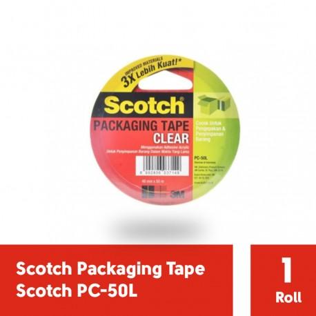3M PC-50L Clear Packaging tape (Lakban Isolasi) 48mm x 50m, tebal: 0.05 mm (eceran)
