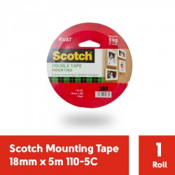 3M Double Tape Scotch Mounting 110-5C (18mm x 5m) - Harga Murah