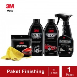 PAKET WASHING (3M Micrifiber Detail Cloth, 3M Tire Restorer, 3M Premium Wax, 3M Interior & Engine Dressing)