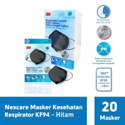 3M Nexcare Masker Kesehatan Respirator KF94 - 1 Box ( isi 20 Masker ) - Hitam