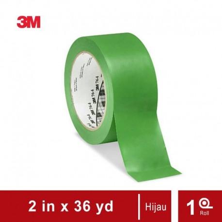 3M Vinyl Marking Tape 764 Green, 2 in x 36 yd, tebal: 0.125 mm