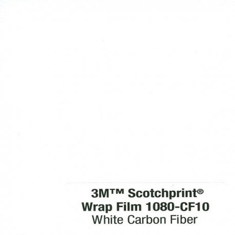 3M Car Wrap Film 1080-CF10 - White Carbon Fiber