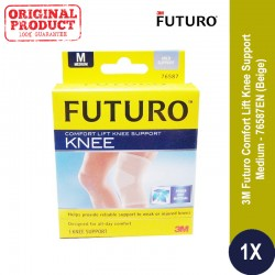 FUTURO™ COMFORT LIFT KNEE SUPPORT, MEDIUM (76587EN) - Deker Lutut Kesehatan u/ Lutut Cedera (Basket, Futsal, Badminton) dll