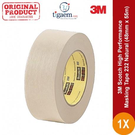 3M Scotch High Performance Masking Tape 232 Natural, 48 mm x 55 m