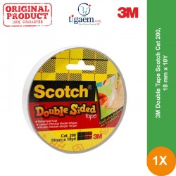 Double Tape Scotch 3M Cat 200, 18 mm x 10Y - Distributor Online Double Tape dg Harga Murah