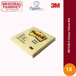 Post-it Canary Yellow 654 (eceran) - Distributor Online Kertas Memo 3M di Jual dg Harga Murah