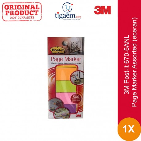 670-5ANL Page Marker Assorted (eceran)