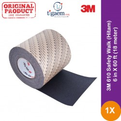 3M 610 Safety Walk (Hitam) - 6 in X 60 ft (18 meter)