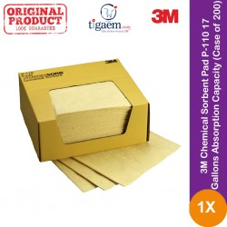 3M Chemical Sorbent Pad P-110, 17 Gallons Absorption Capacity (Case of 200)