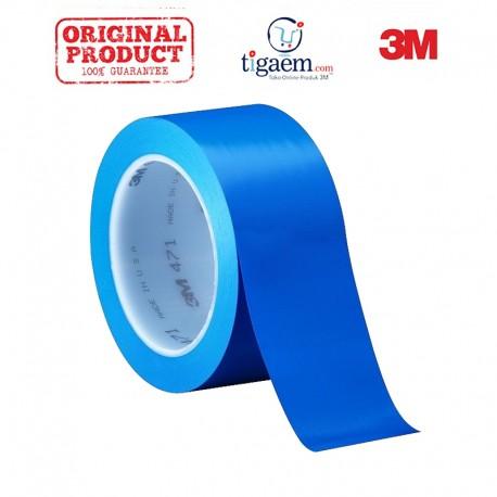 3M Vinyl Tape 471 Blue, 2 in x 36 yd, tebal: 0.14 mm