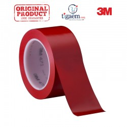 3M Vinyl Tape 471 Red, 2 in x 36 yd, tebal: 0.14 mm - Vinyl Lane Marking Tape Warna Merah