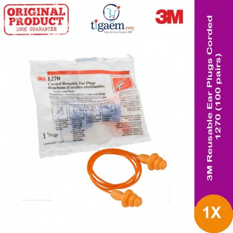 3M™ E-A-Rsoft™ FX™ Uncorded Earplugs, Hearing Conservation 312-1261 in Poly Bag - 100 Pair/Box