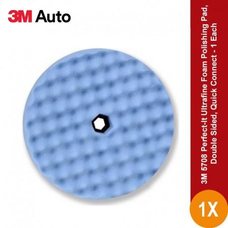 3M 5708 Perfect-It Ultrafine Foam Polishing Pad, Double Sided, Quick Connect - Foam Terbaik Jual dg Harga Murah u/ Poles Mobil